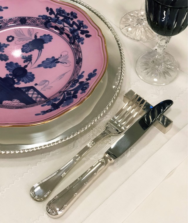 Set 4 pratos rosa Oriente Italiano Richard Ginori