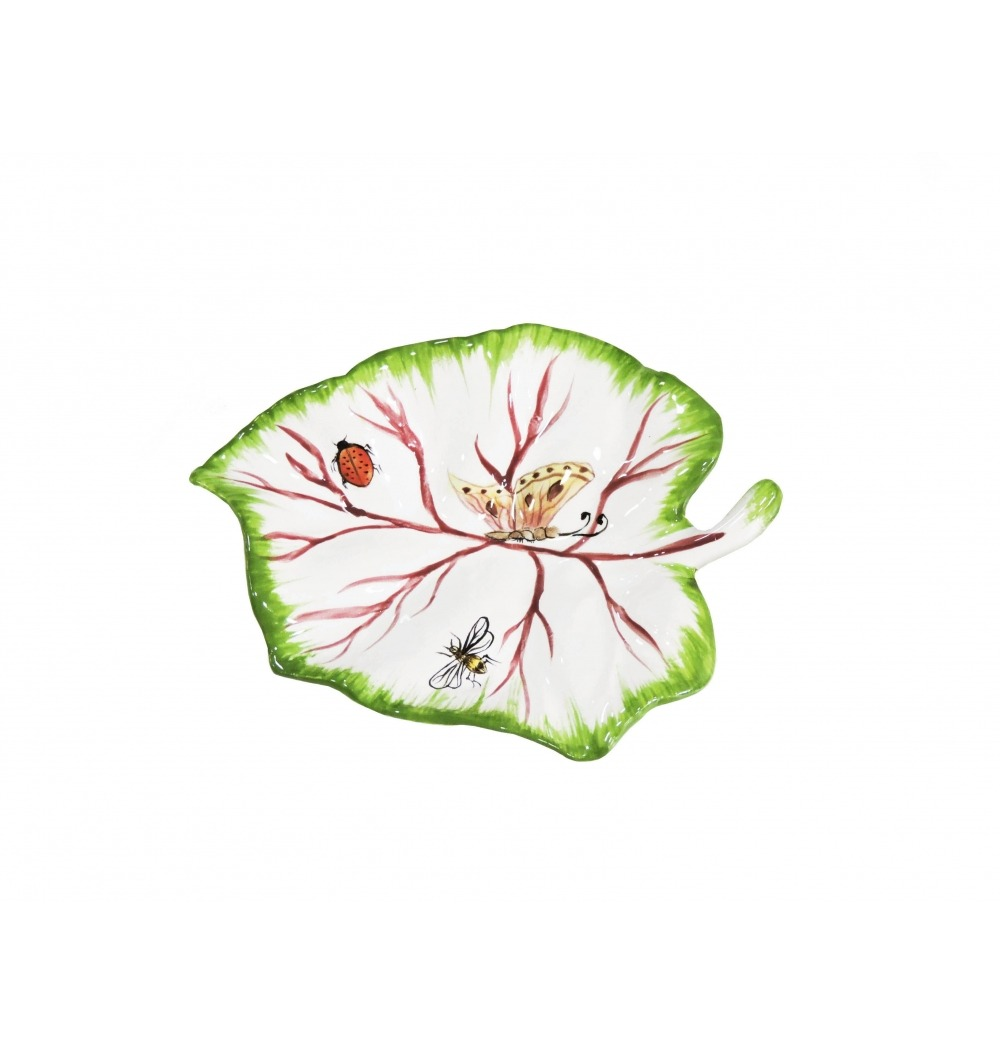 Folha uva cerâmica
