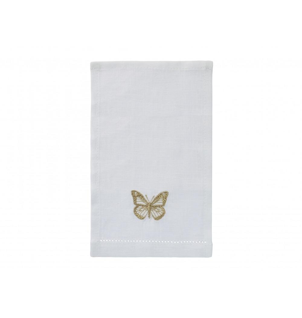 Guardanapo aperitivo bordado borboleta fendi