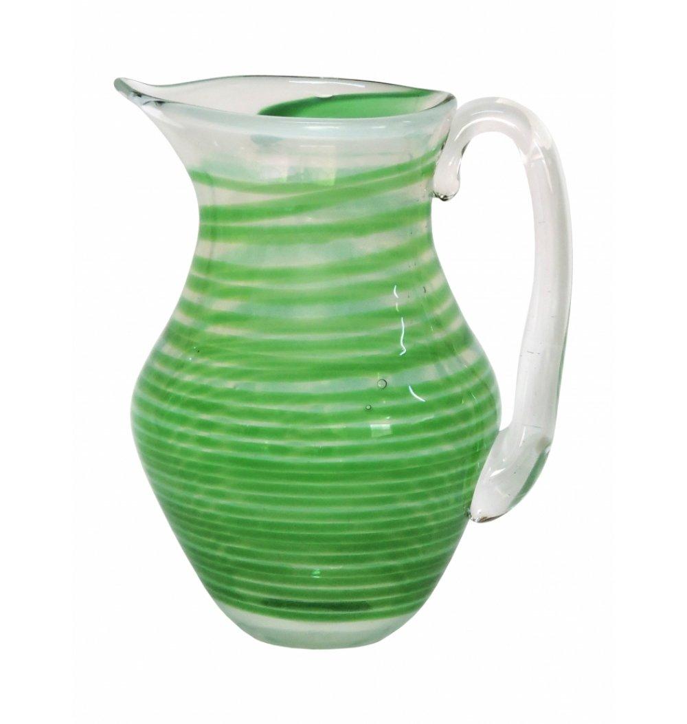 Jarra murano verde espiral