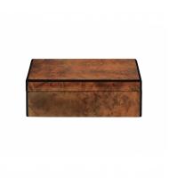 Caixa retangular textura madeira G