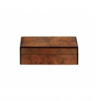 Caixa retangular textura madeira M