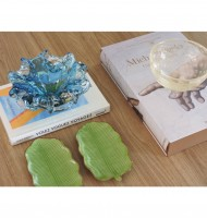 Prato de cerâmica formato folha M