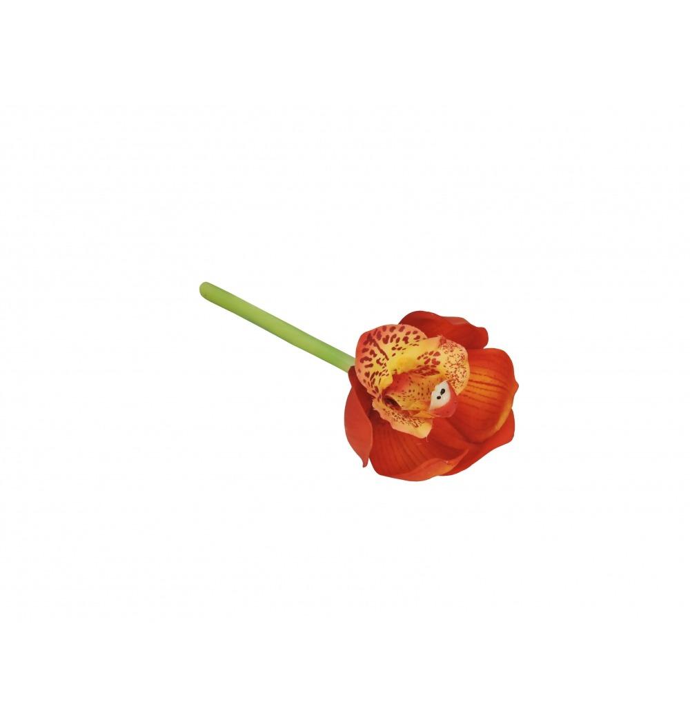 Mini orquídea laranja