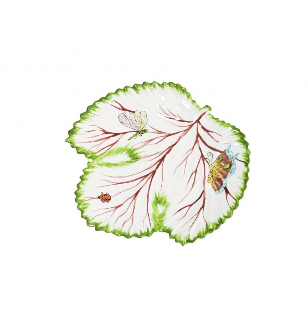Petisqueira cerâmica folha uva P