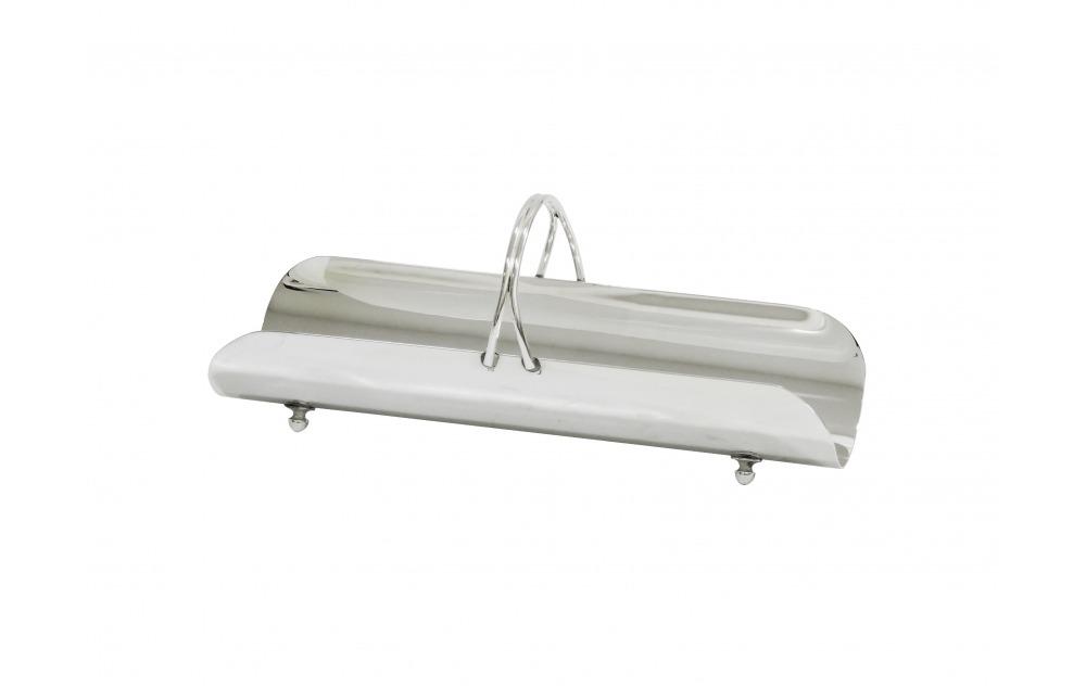 Porta toalha de prata retangular liso