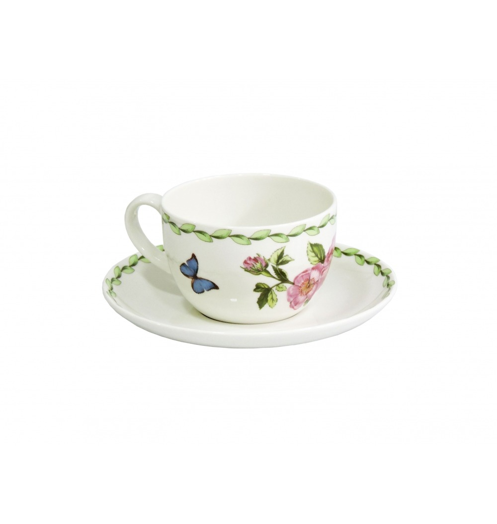 Set 2 xícaras chá Botânica 4 peças