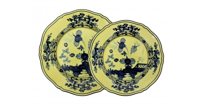 Set 4 pratos amarelo Oriente Italiano Richard Ginori