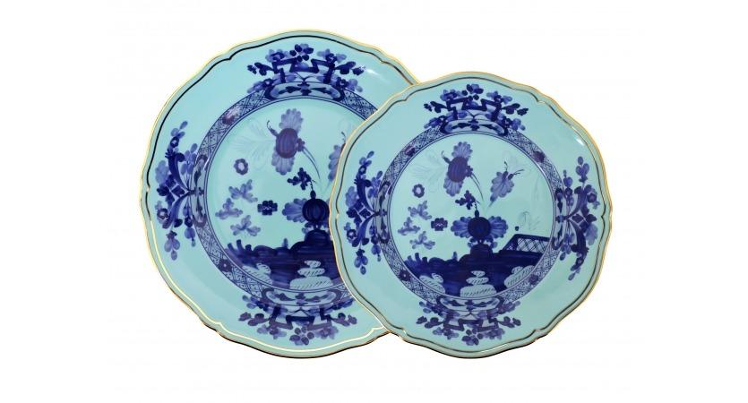 Set 4 pratos azul claro Oriente Italiano Richard Ginori