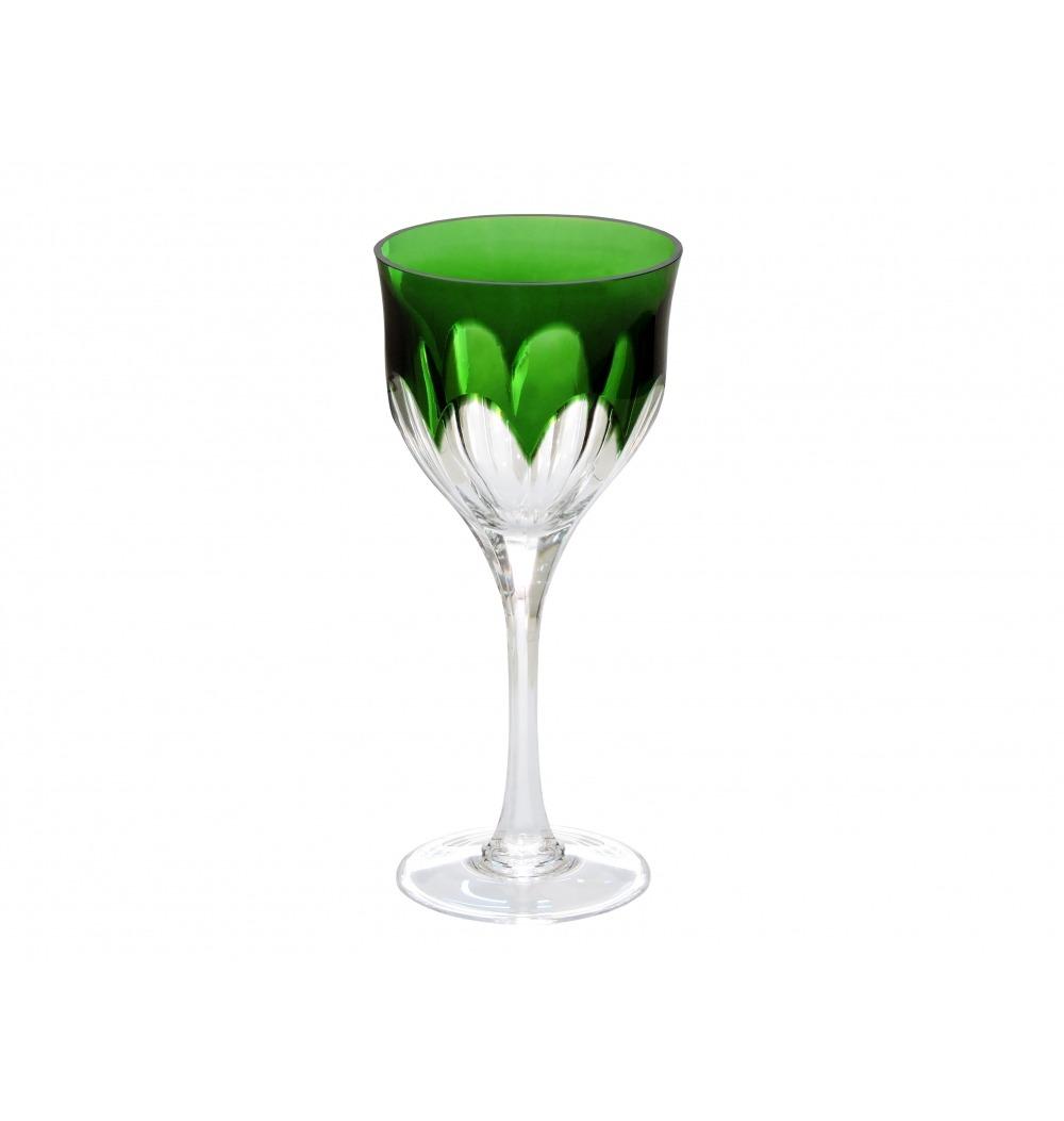 Taça cristal Mozart verde para vinho branco