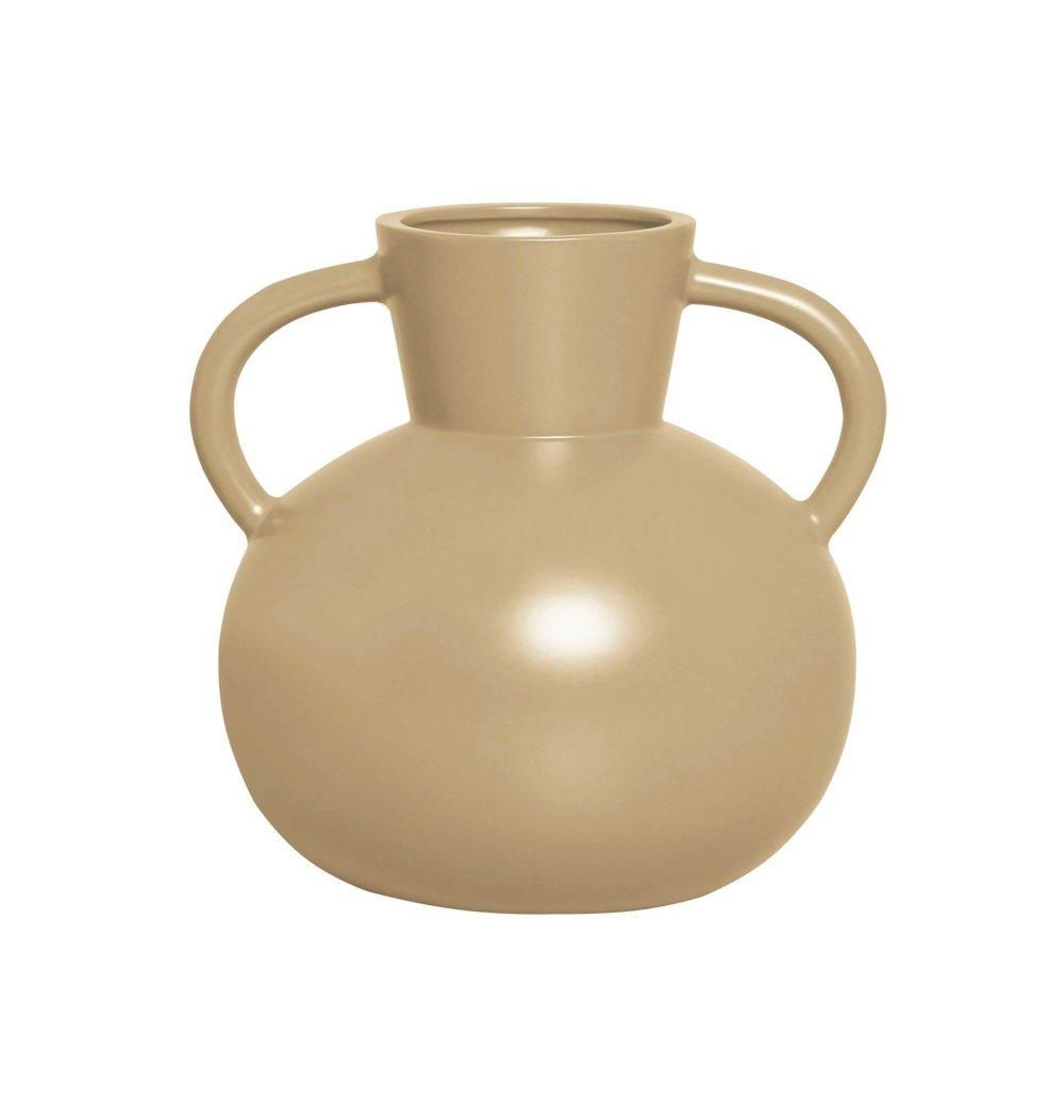 Vaso cerâmica nórdico bege fosco M