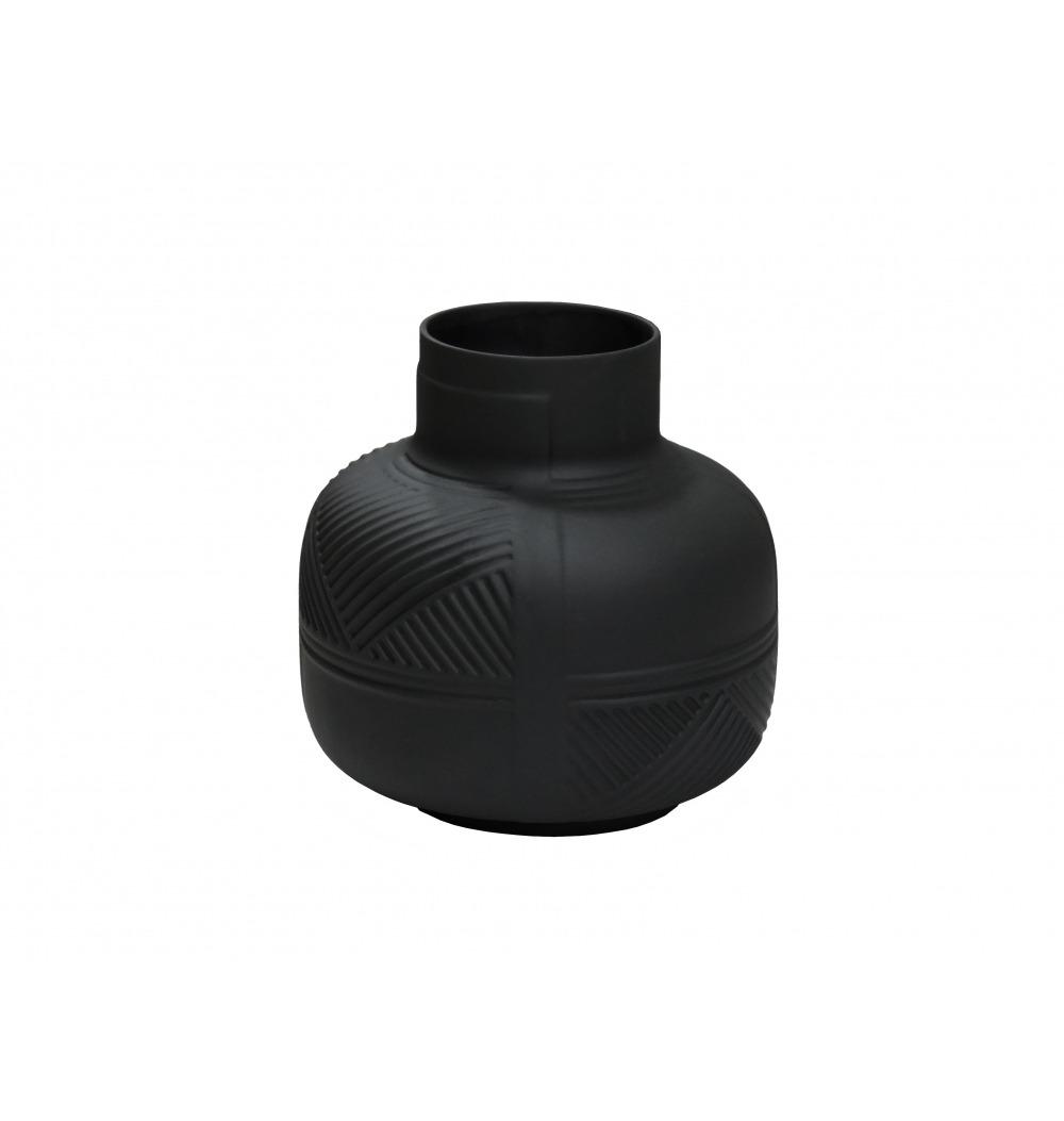 Vaso Cerâmica Bojudo Preto Fosco